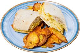 Medio Sándwich de Pollo, Manzana y Queso Holandés