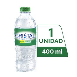 Agua Cristal Con Gas 400 ml