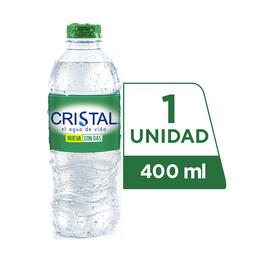 Agua Cristal Con Gas 400 ml