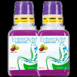 Rappicombo Suero Oral Enterolyte Uva 400 Ml x2