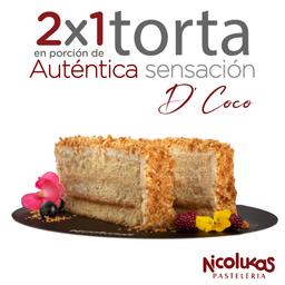 Porción Torta D' Coco 2x1