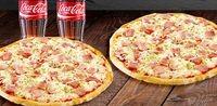 combo x2 pizzas personal + bebidas
