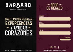 Bono Regalo Barbaro