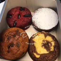 Comparte 4 tortas