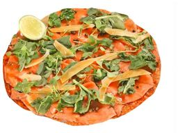 Pizza Carpaccio de salmón