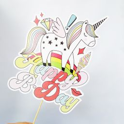 Cake Toppers - Birthday Unicornio