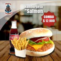 Combo Hamburguesa de Salmón