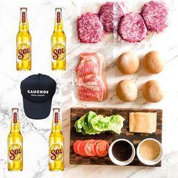 Kit de Hamburguesas + Cerveza Sol