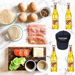 Kit Sanguches de milanesa de pollo + Cerveza Sol