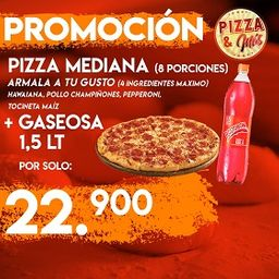 Pizza Mediana (8 porciones)