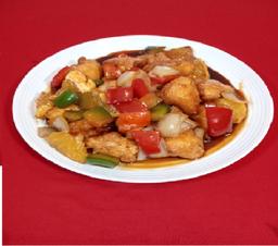 Wok pollo crocante