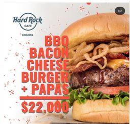 Hard Rock Bbq Bacon Cheese Burger