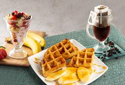 Combo Waffles y Parfait