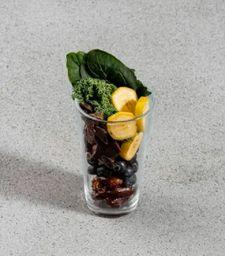 Batido de Kale, Cocoa y Arandanos