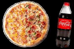 Pizza Mediana Premium y Gaseosa