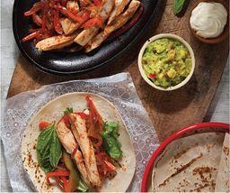 Fajitas de Pollo con Tortillas +  Limonada o gaseosa gratis