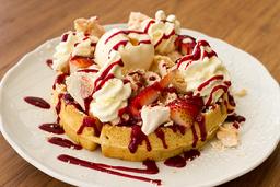 Waffle Parfait de Frutos Rojos