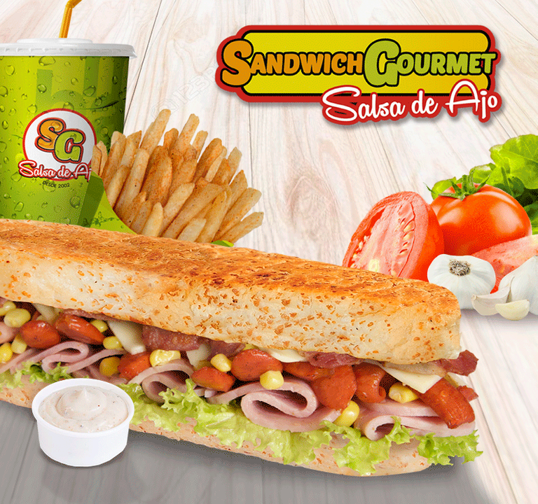 Logo Sandwich Gourmet Salsa de Ajo
