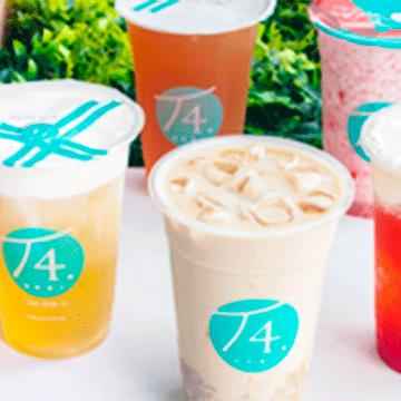 Logo T4 Bebidas a base de Té