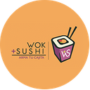 Wok + Sushi background