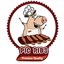 Pig Ribs background