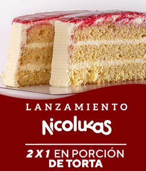 Lanzamiento 2 X 1 porción personal torta