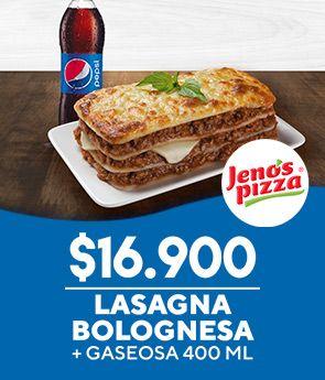 Lasagna Bolognesa + Gaseosa 400 ML