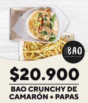 Bao Crunchy de Camarón + Papas
