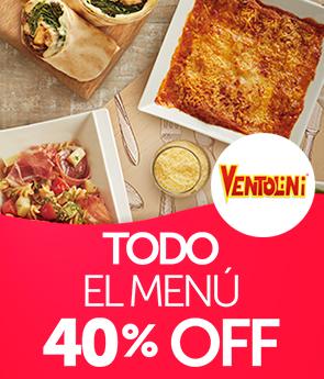 40 % todo menú