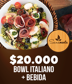 Sanamente Gourmet: Bowl Italiano + Bebida