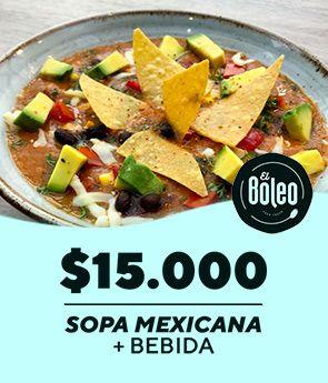 Sopa Boleo mexicana