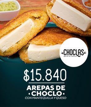 Choclas: Arepas de choclo con mantequilla y Queso