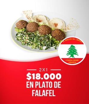 2X1 FALAFEL RINCON DEL LIBANO