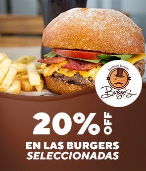 20% off burgers seleccionadas
