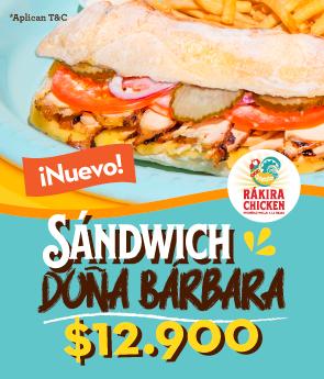 Sanduche Doña Bárbara