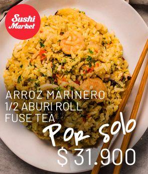 AGMMED-arroz marinero + aburix6 + fuze tea