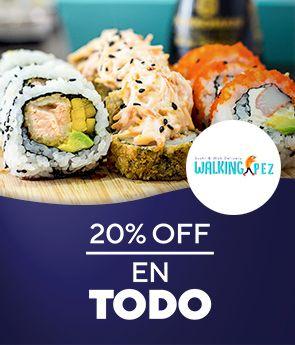 Walking Pez: 20% off en TODO