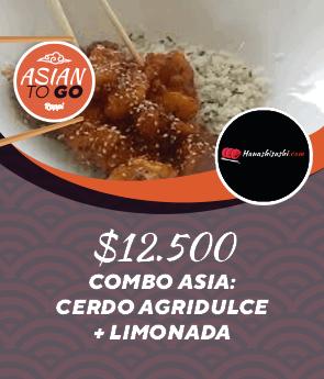Combo Asia: Cerdo Agridulce + Limonada
