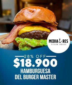 Hamburguesa del Burger Master 28%