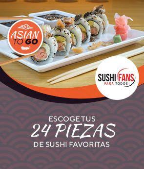 Escoge tus 24 de piezas de Sushi Favoritas.