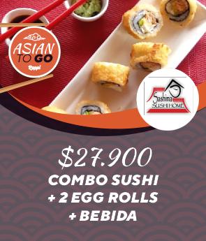 Combo sushi + 2 egg rolls + Bebida