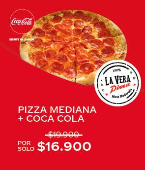Pizza Mediana + Coca Cola