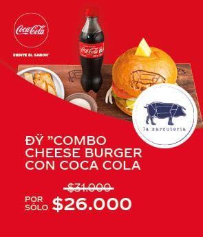 🍔Combo Cheese Burger con Coca Cola