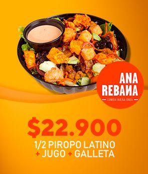 1/2 Piropo Latino + jugo + galleta