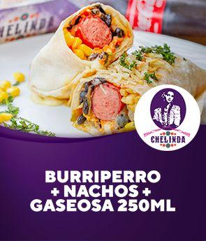 Burriperro + Nachos + Gaseosa 250ml