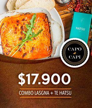 Combo Lasgna + Te hatsu