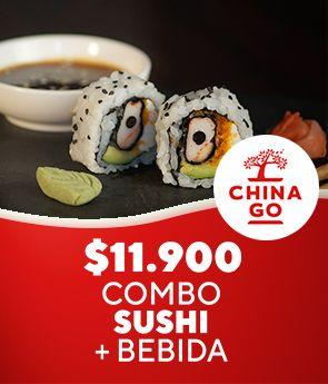 """China Go """"Promo"""" Combo sushi + bebida"""