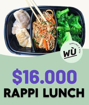 Rappi Luch de Wu Dumplings & Beer